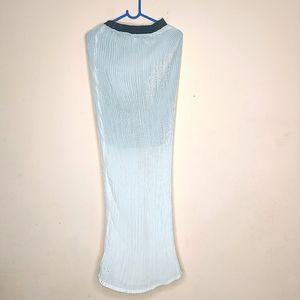 Long white Maxi fishtail skirt